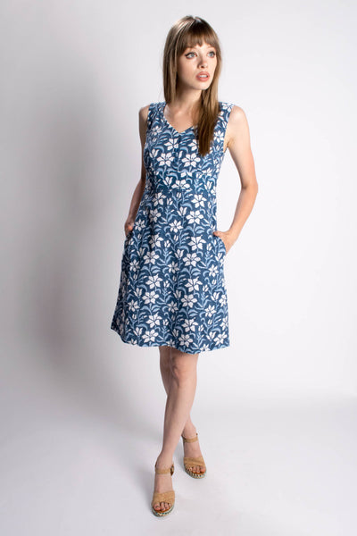 Aloha Blue Flowers Dress