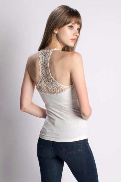 Crochet Back Tanguis Tank