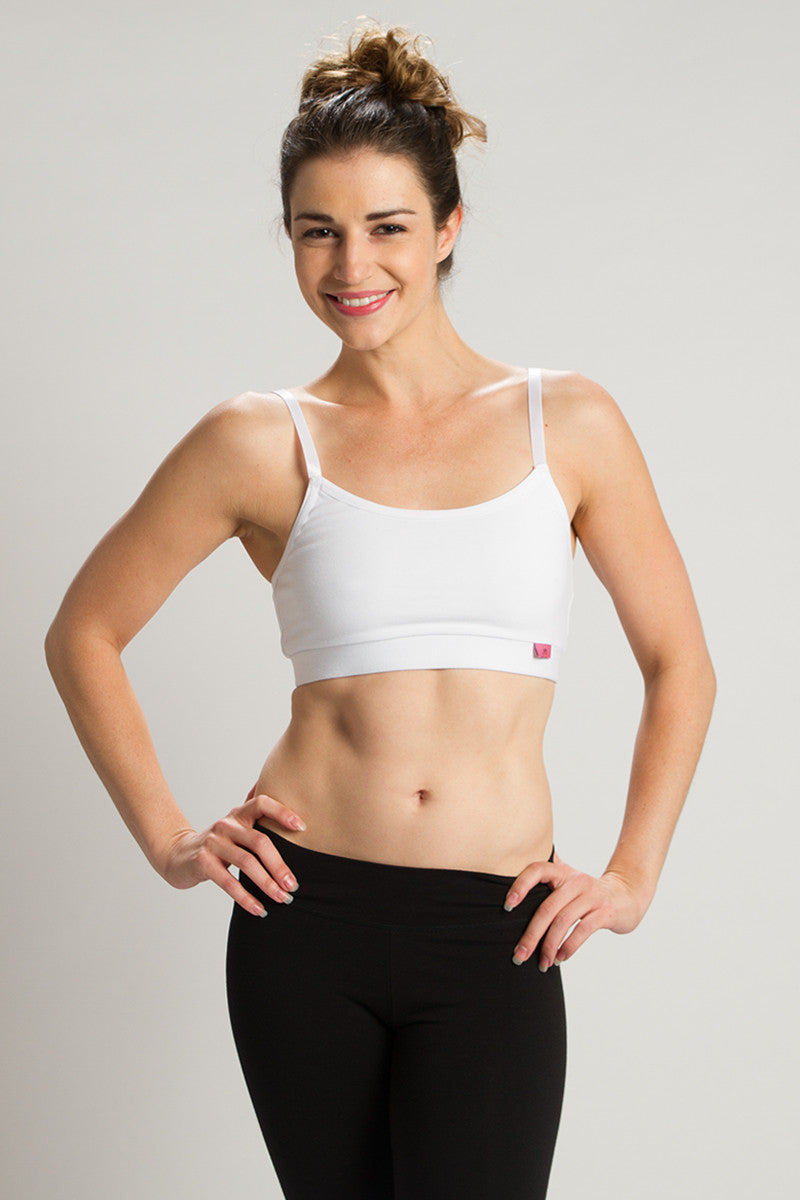 Organic White Strength Reversible Sports Bra - Beckons