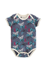 Organic Cotton Butterfly Wing Short Sleeve Snapster - PACT