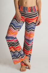 Geo Sunset Windward Print Pants - ecoSkin Made in Los Angeles