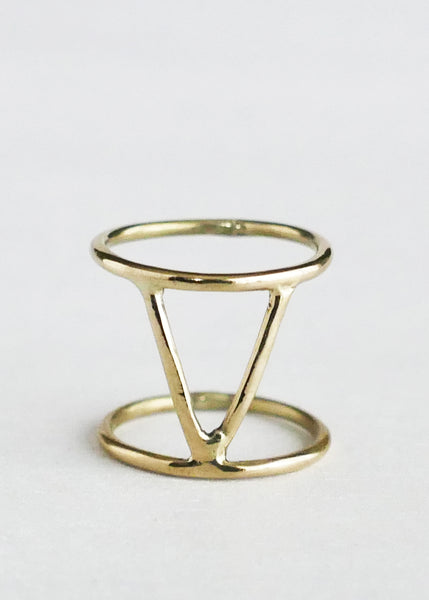'V' for Vegan Ring