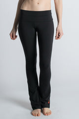 Black Organic Cotton Love Bootcut Leggings for Yoga - Beckons