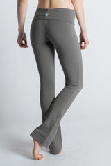 Gray Organic Cotton Love Bootcut Leggings for Yoga - Beckons