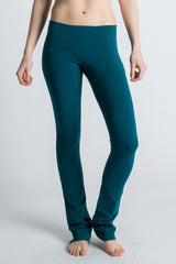 Teal Organic Cotton Love Bootcut Leggings for Yoga - Beckons