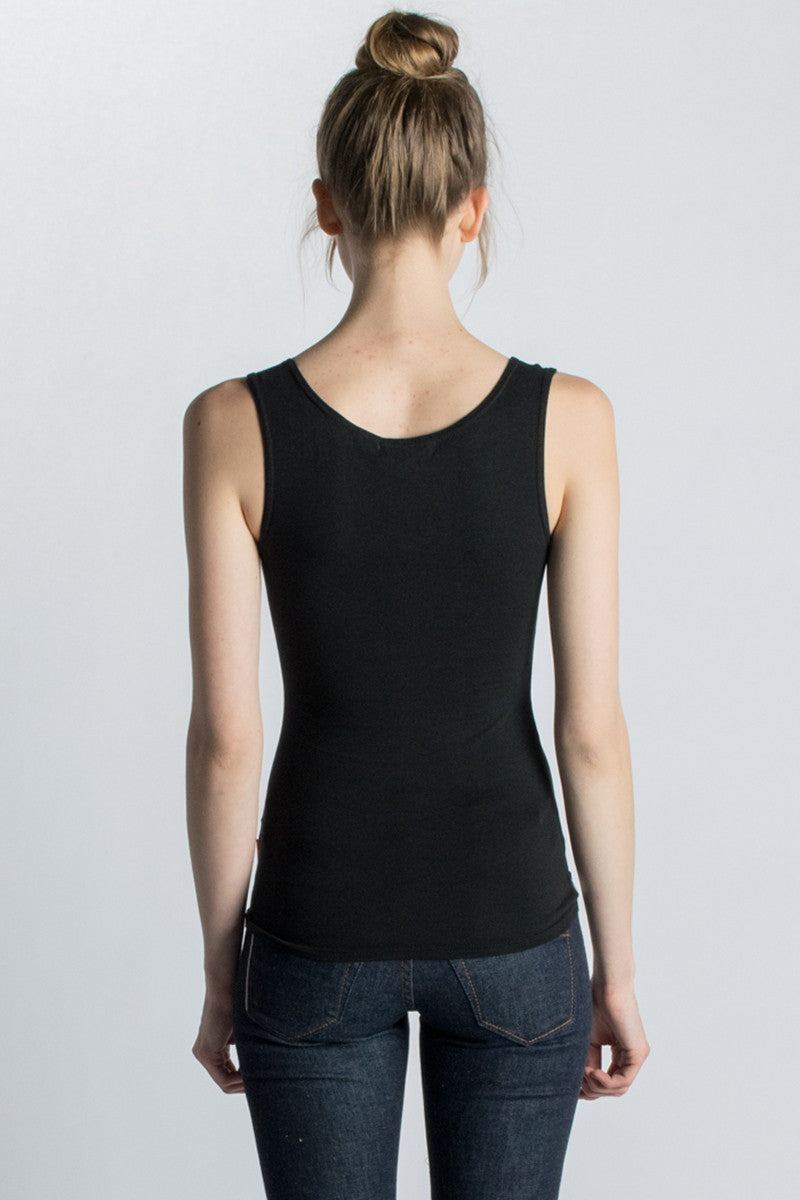 Black Strength Bamboo Tank Top - Beckons