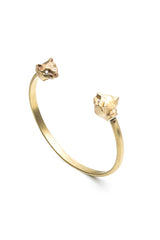 Angular Cat Cuff Handmade in New York City from Recycled Brass - By Natalie Frigo