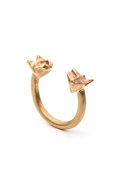 Tiny Double Cats Ring