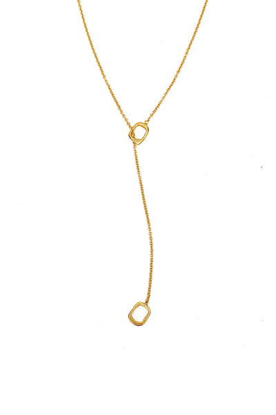 Channel Charm Lariat Necklace