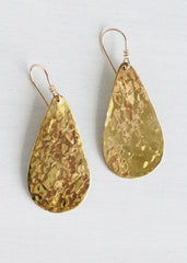 Lucy & Jo Hammered Tear Drop Earrings Bead & Reel