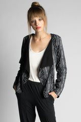 Black Ikat Jacket - Passion Lilie
