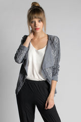 Gray Ikat Jacket - Passion Lilie