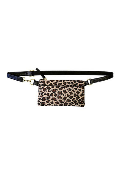 Small Pocket Bum Bag in Leopard