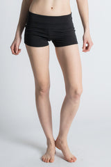 Black Organic Cotton Love Yoga Shorts - Beckons