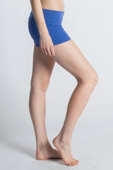Royal Blue Organic Cotton Love Yoga Shorts - Beckons
