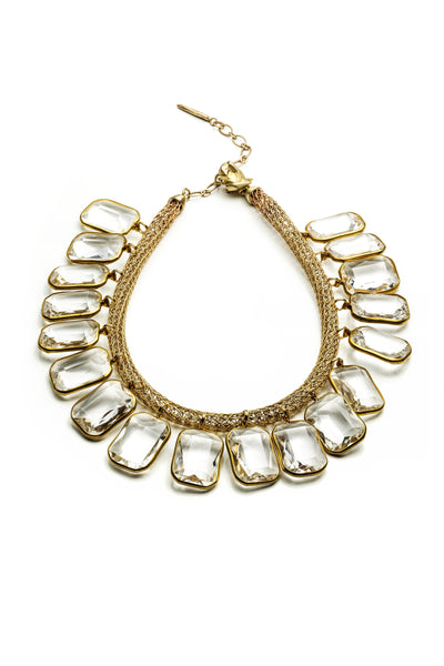 Lucite and Mesh Necklace