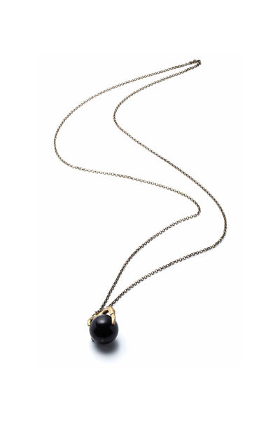 Medium Claw and Black Lucite Necklace