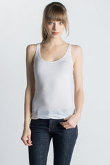 White Organic Cotton Tank - Only Hearts