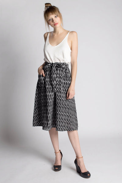 Black Fog Midi Skirt