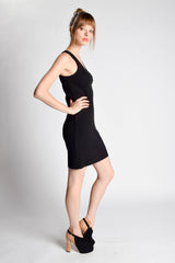Rib Ruched Tank Dress - Pima Doll