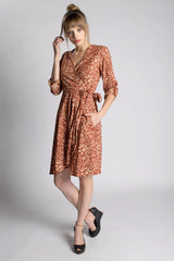 Country Red Wrap Dress - Passion Lilie
