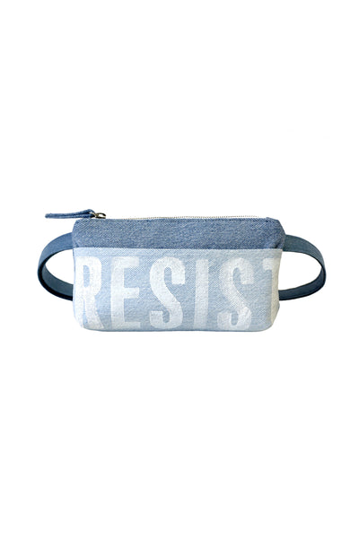 Resist Pocket Bum Bag in Upcycled Denim
