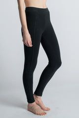 Black Organic Seam Legging - Groceries Apparel