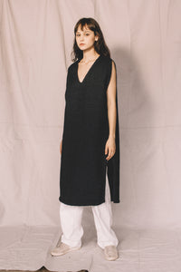 Wool tunic- Navy