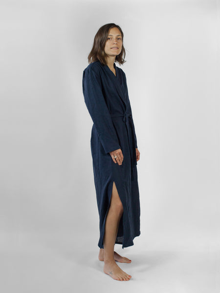 Robe dress, Midnight Linen
