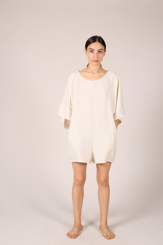 Shorts jumper, ivory linen