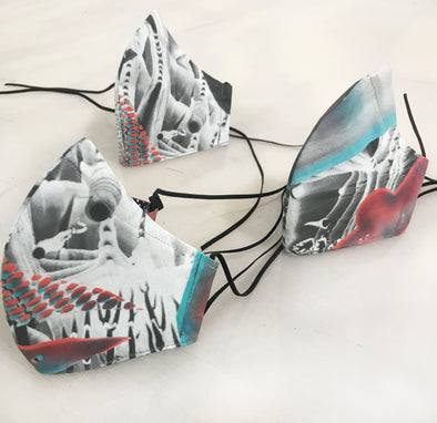 Artist-Designed Mask – Winterfire and Good Riddance by Laleh Khorramian