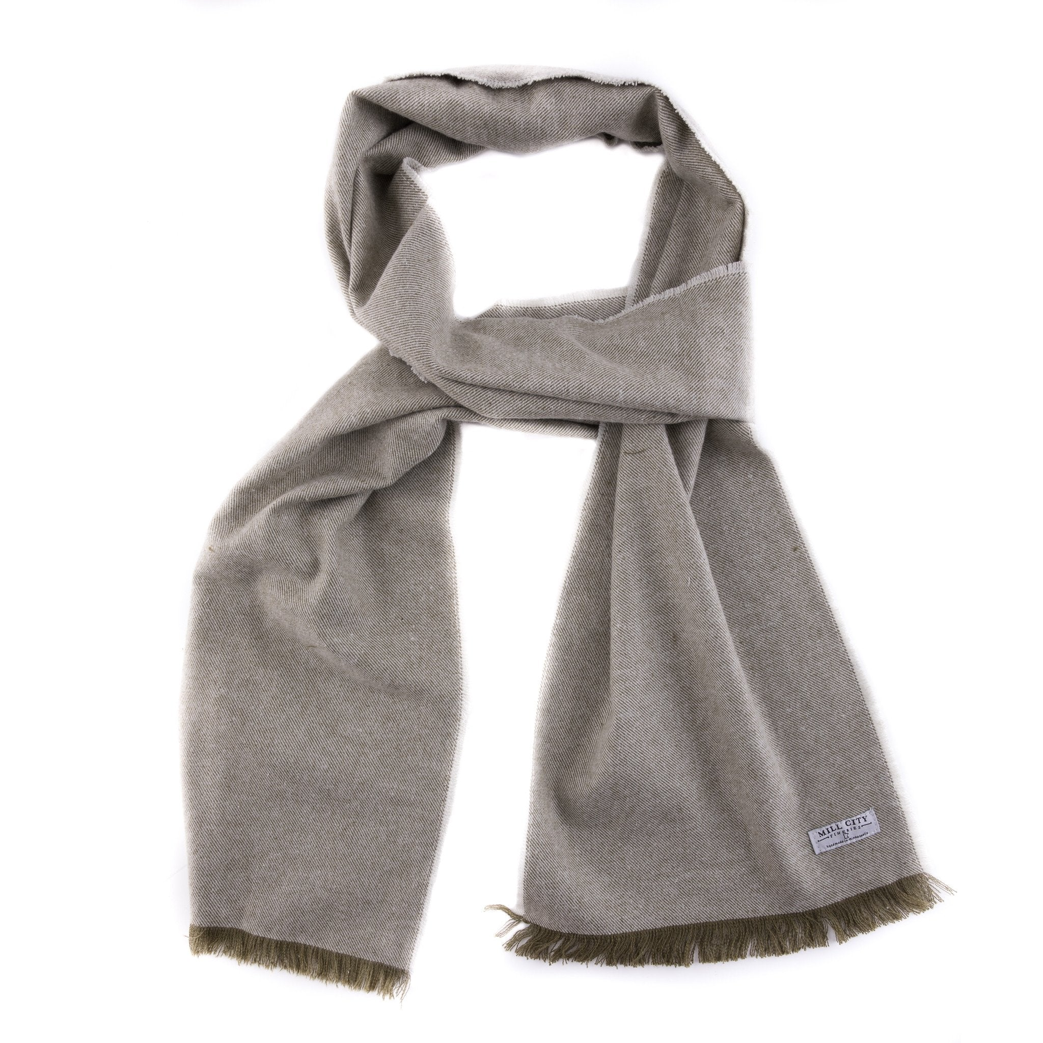 Mill City Fineries Scotch Pine Textured Flannel Scarf