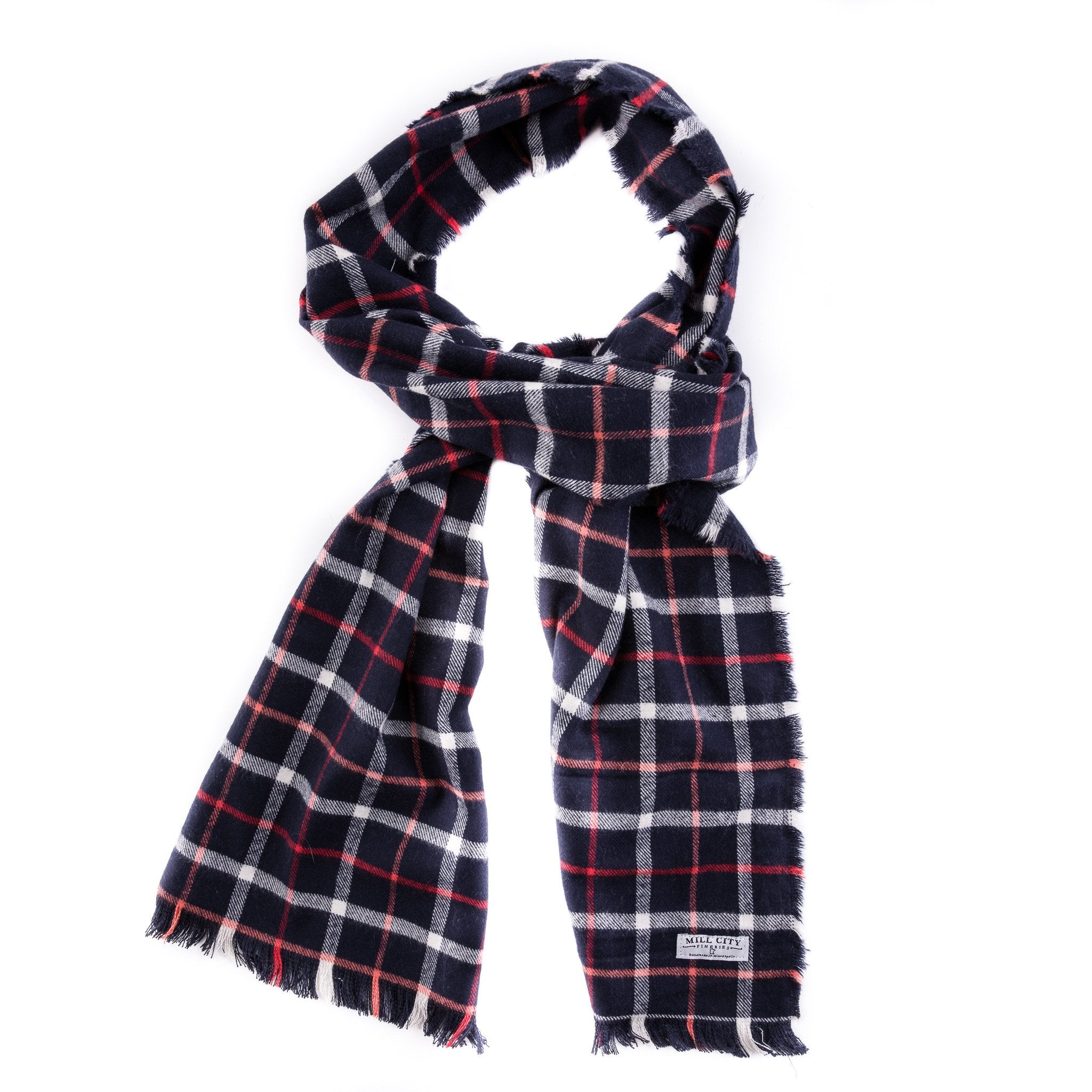 Mill City Fineries Fremont Plaid Flannel Scarf
