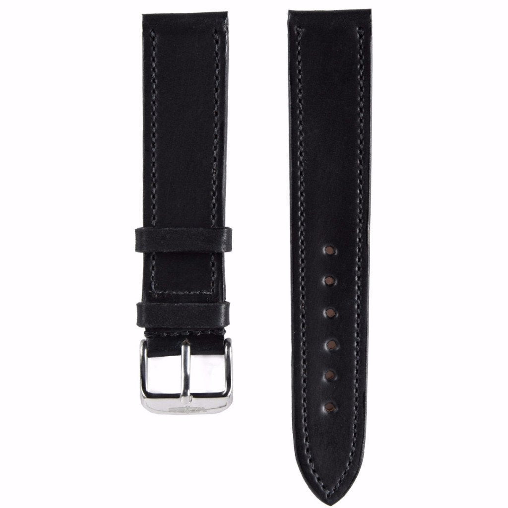 Black Genuine Horween Shell Cordovan Strap