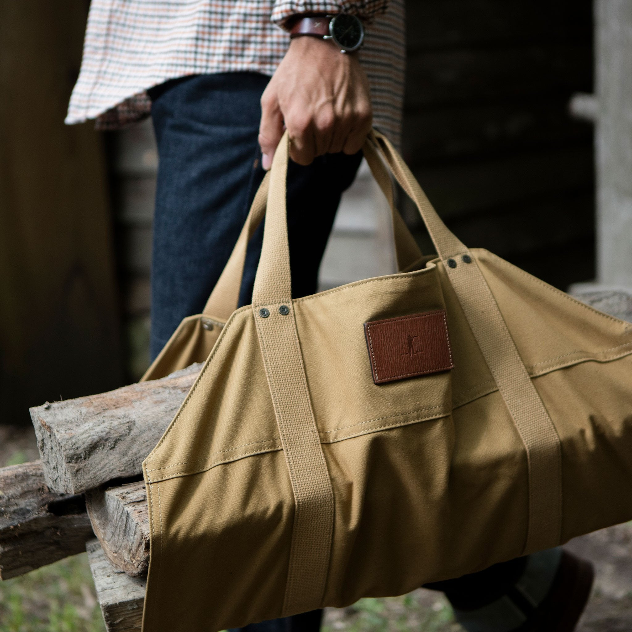 The Firewood Carrier, Signature Canvas