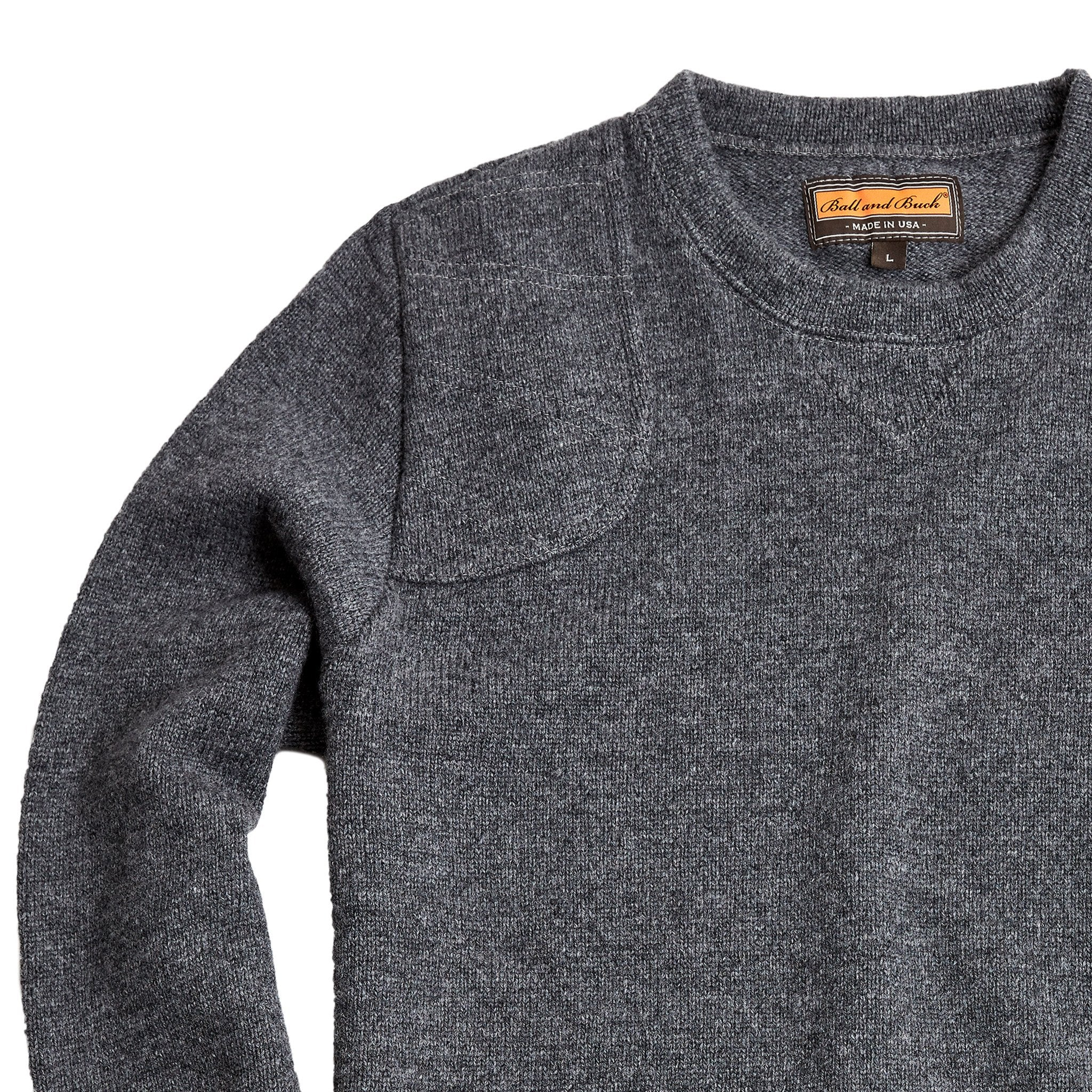The Merino Crewneck Sweater, Charcoal