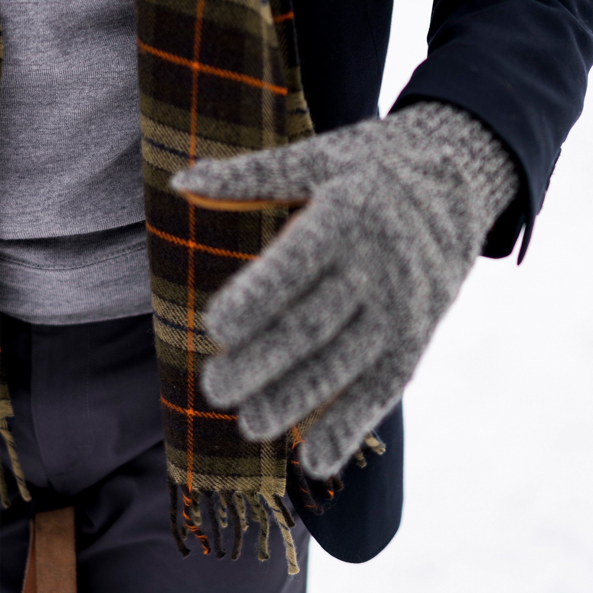 Merino Wool Scarf, Signature Plaid