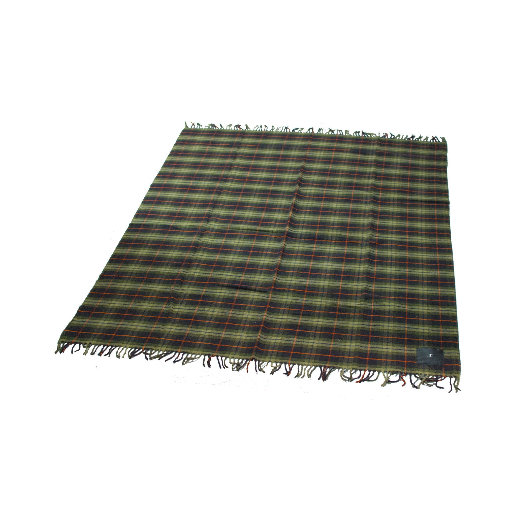 Merino Wool Throw Blanket, Signature Plaid