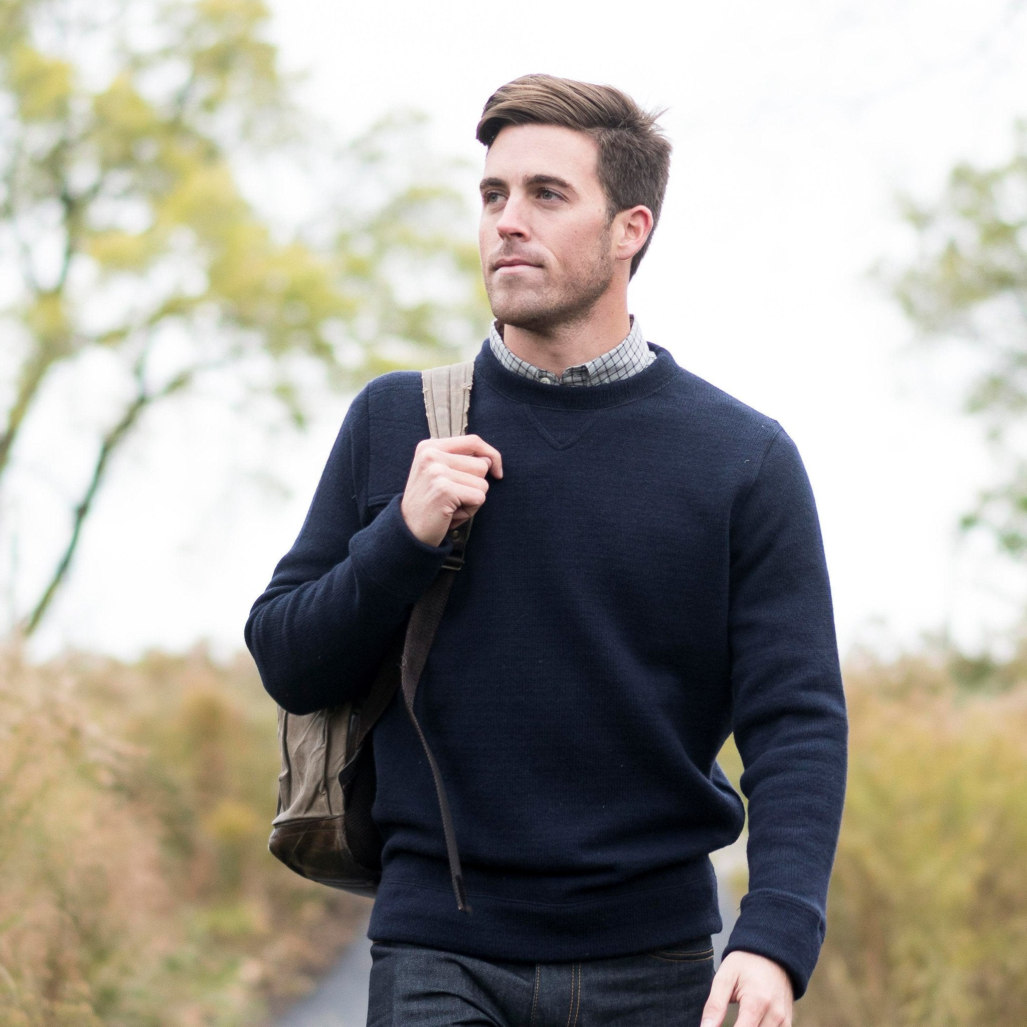 The Merino Crewneck Sweater, Navy