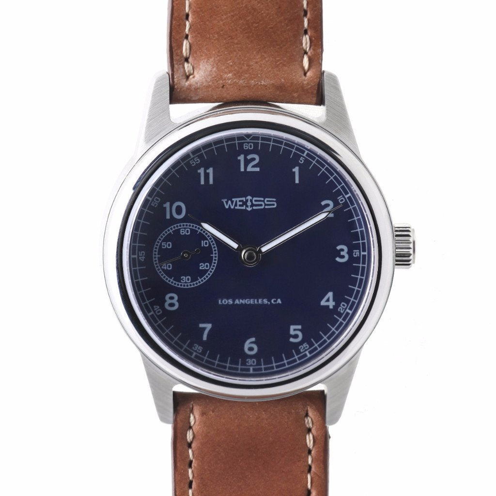 Weiss 38mm Automatic Issue Field Watch | Blue Dial