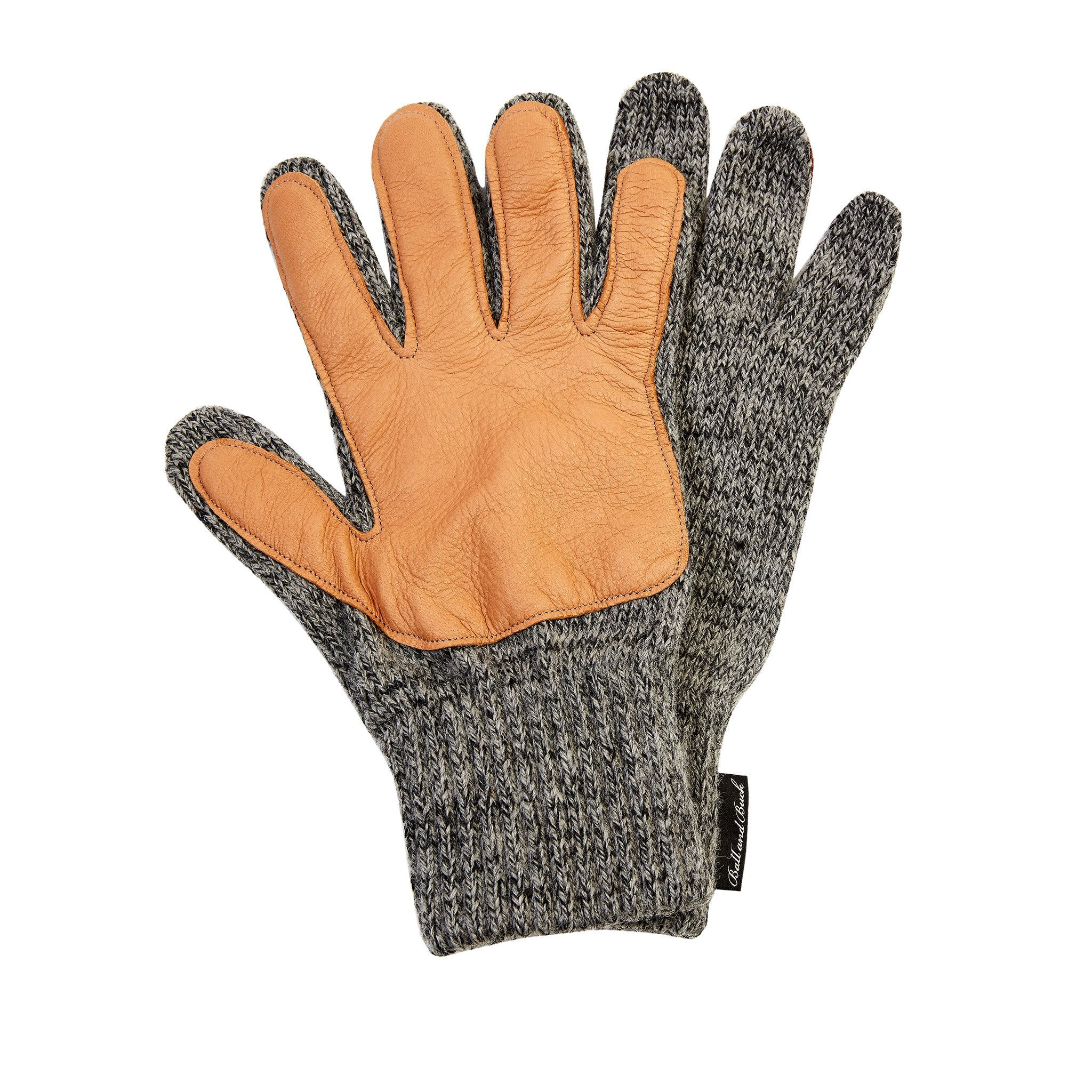 The Wool Glove, Charcoal/Tan