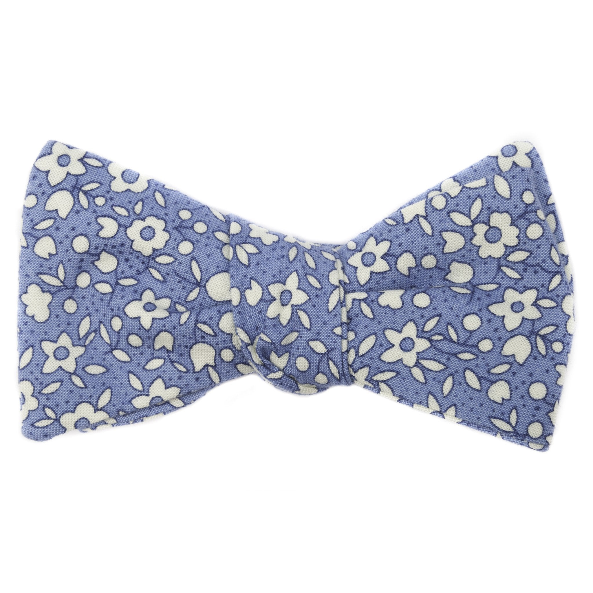 Mill City Fineries Azure Floral Bow Tie