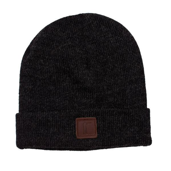 Roger Knit Hat, Black Mohair Blend