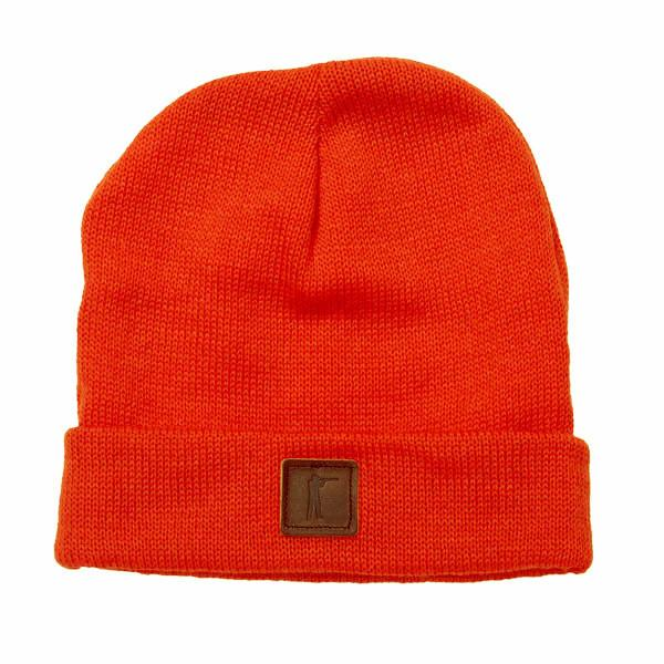 Roger Knit Hat, Blaze Orange Wool
