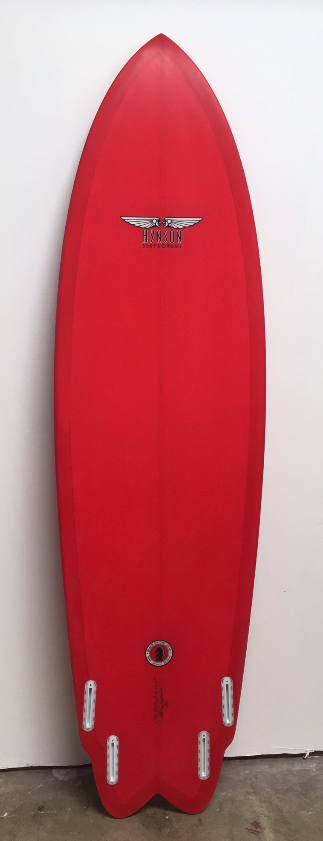 nothingbutboards red fin 9 4 triple stringer surfboard by mike