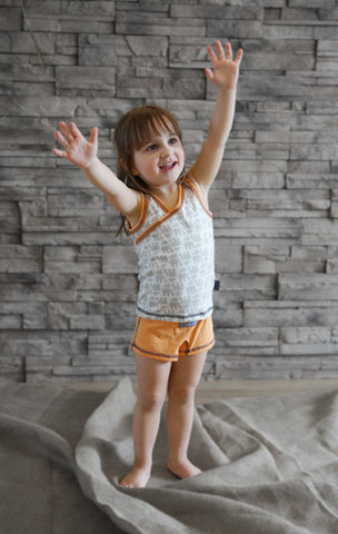 Girls Tank/Undershirt (Elephant/Orange)