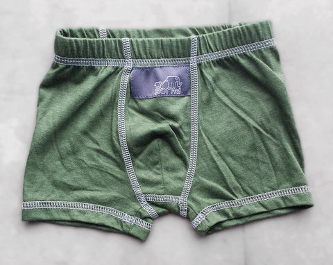 Boys Boxer Briefs - 3 Pack (Brown, Olive & Natural Dinos)