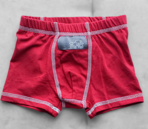 Boys Boxer Briefs - 3 Pack (Red, Natural Dinos & Olive)
