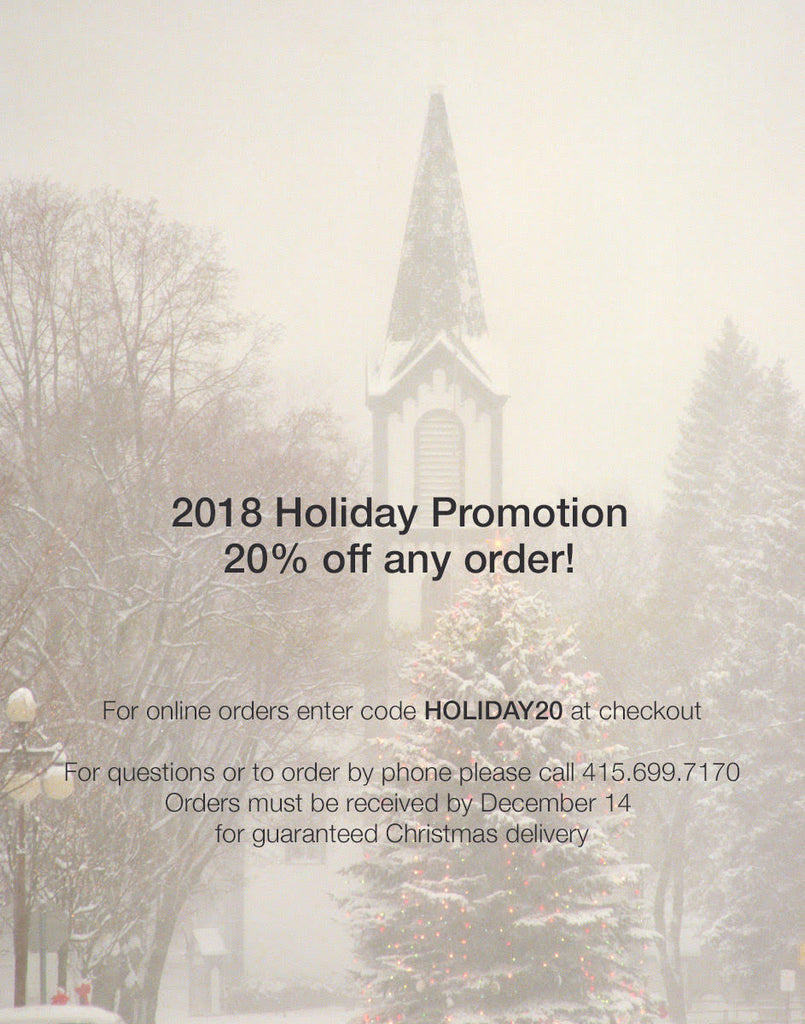 2018 20% off Holiday Promotion