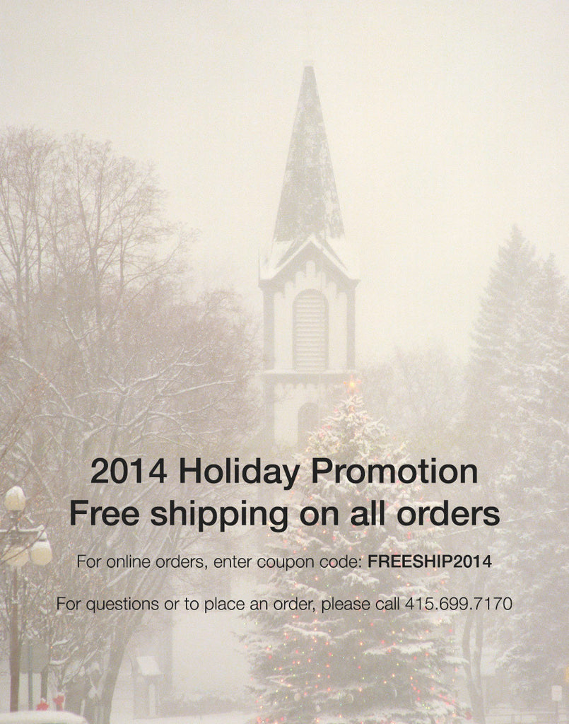 Holiday Promotion 2014 - FREE SHIPPING!